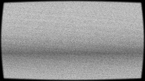 Pantalla dañada vieja de la TV con efecto granoso almacen de metraje de vídeo