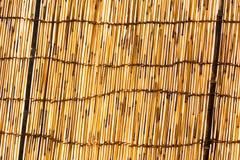 Pantalla de bambú hecha con los pequeños palillos de bambú fotografía de archivo libre de regalías