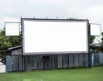 Pantalla de cine blanca Imagen de archivo libre de regalías
