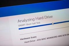 Pantalla de Digitaces con hardware del software de la ayuda de la ayuda Imagen de archivo libre de regalías