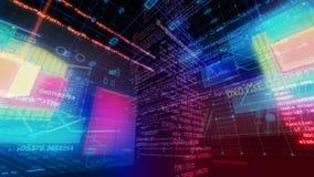 Pantalla de Digitaces de los datos del ordenador de interfaz de la tecnología