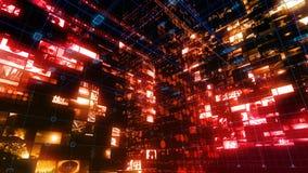 Pantalla de Digitaces de los datos del ordenador de interfaz de la tecnología almacen de video