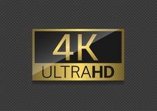 pantalla de 4k TV Fotografía de archivo libre de regalías