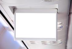 Pantalla de la información TV en un aeroplano Foto de archivo libre de regalías