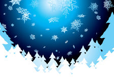 Pantalla de la nieve Foto de archivo