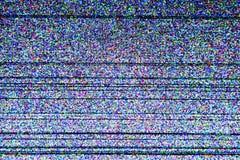 Pantalla de la televisión con ruido estático fotografía de archivo