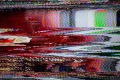 Pantalla de la televisión con ruido estático foto de archivo