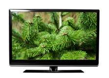 Pantalla de la TV con la imagen Foto de archivo libre de regalías