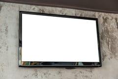 Pantalla de la TV en la pared Imagen de archivo libre de regalías