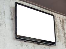 Pantalla de la TV en la pared Imagen de archivo