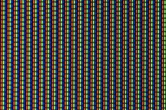 Pantalla de la TV en macro Imagen de archivo libre de regalías