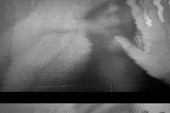 Pantalla de la TV que oscila Foto de archivo libre de regalías