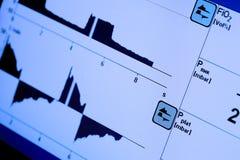 Pantalla de monitor con las curvas variables fotos de archivo libres de regalías