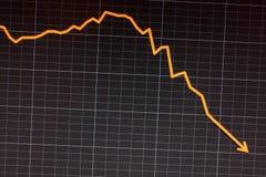 pantalla de ordenador común de la recesión de la caída fotografía de archivo libre de regalías