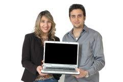 Pantalla de ordenador en blanco Imagen de archivo libre de regalías