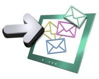 Pantalla de ordenador y flecha Fotos de archivo libres de regalías