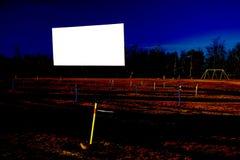 Pantalla de película en blanco del autocinema Fotografía de archivo