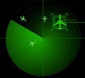 Pantalla de radar Imágenes de archivo libres de regalías