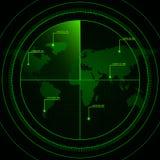 Pantalla de radar Imagen de archivo libre de regalías