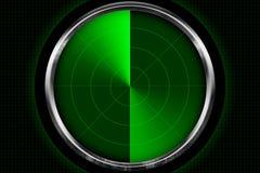 Pantalla de radar Imagen de archivo