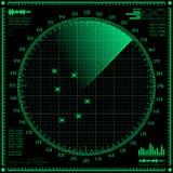 Pantalla de radar Fotografía de archivo