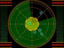 Pantalla de radar stock de ilustración