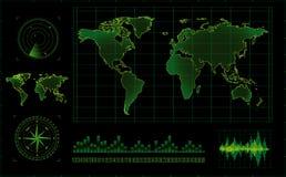 Pantalla de radar Fotos de archivo libres de regalías