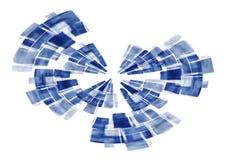 Pantalla de radar azul abstracta stock de ilustración