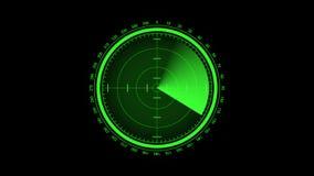 Pantalla de radar ilustración del vector