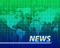 Pantalla del chapoteo de las noticias Imagen de archivo libre de regalías