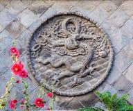 Pantalla del Cinco-dragón de Datong Fotos de archivo
