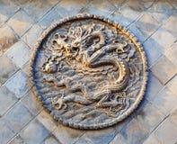 Pantalla del Cinco-dragón de Datong Fotografía de archivo