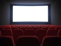 Pantalla del cine con los asientos Imágenes de archivo libres de regalías
