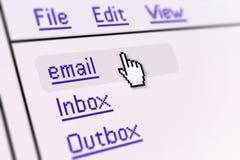 Pantalla del email Fotografía de archivo libre de regalías