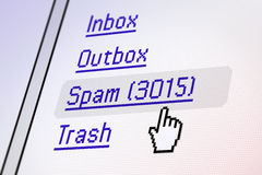 Pantalla del email Imagenes de archivo