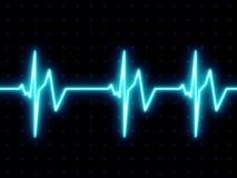 Pantalla del golpe de corazón ilustración del vector