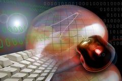 pantalla del HTTP del Internet del Web de WWW ilustración del vector