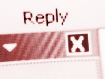 Pantalla del Internet de la contestación imagenes de archivo