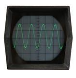 Pantalla del osciloscopio foto de archivo libre de regalías