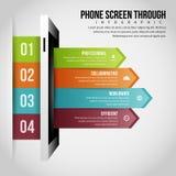 Pantalla del teléfono con Infographic Imagen de archivo libre de regalías