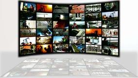 Pantalla dividida de los empleos de la industria y de la producción almacen de video