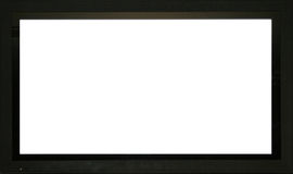 Pantalla en blanco Imágenes de archivo libres de regalías
