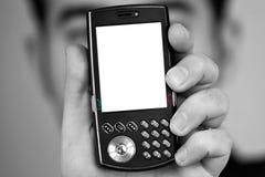 Pantalla en blanco del teléfono celular Imagen de archivo libre de regalías
