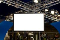 Pantalla en blanco grande Fotografía de archivo libre de regalías
