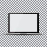 Pantalla en blanco Ordenador portátil realista en un fondo transparente libre illustration
