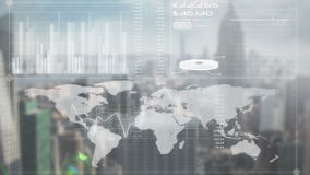 Pantalla en línea del negocio global libre illustration