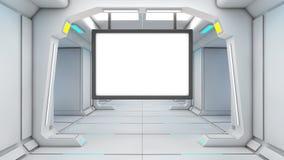 pantalla futurista 3d Fotos de archivo libres de regalías