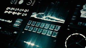 Pantalla futurista del interfaz digital almacen de video