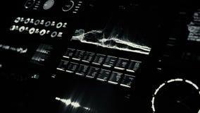 Pantalla futurista del interfaz digital metrajes