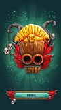 Pantalla móvil del cargamento del juego del GUI de los chamanes de la selva Imagenes de archivo